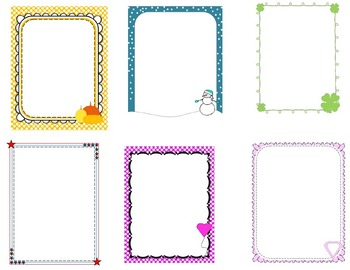 Elementary Themed Page Borders