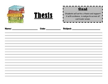 Elementary Thesis