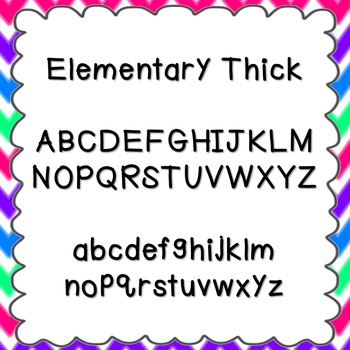 Elementary Thick Font {personal and commercial use; no lic