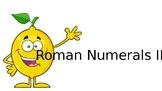 Elementary UIL Number Sense Roman Numerals 3 (C through M)