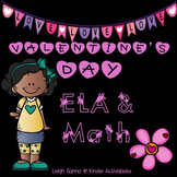 Valentine's Day ELA & Math Packet