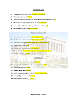 Elementary Video Adventures: Ancient Greece    viewing guide