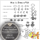 Elementary Visual Art Early Finishers Printable Handout: H