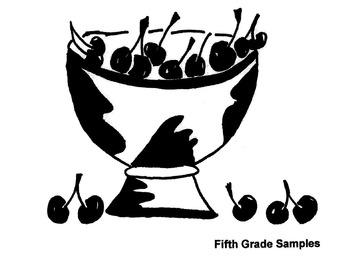 Elementary Visual Art Project - Cherries