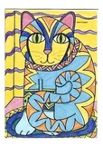 Elementary Visual Art Project - Cat - Abstract and Decorative