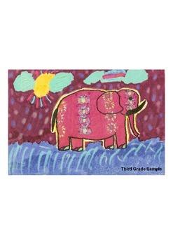 Elementary Visual Art Project - Elephant - Calico