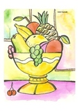 Elementary Visual Art Project - Fruit Bowl with Grapes