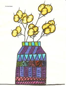 Elementary Visual Art Project - Money Plant Design