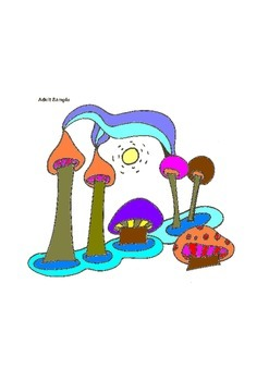 Elementary Visual Art Project - Mushrooms - Easy