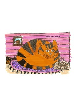 Elementary Visual Art Project - Cat - Oval Oliver