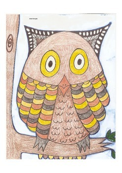 Elementary Visual Art Project - Owl - Wise Old Owl