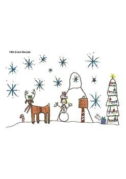 Elementary Visual Art Project - Reindeer Park