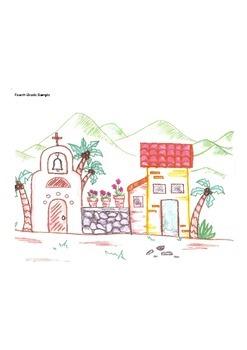 Elementary Visual Art Project - Spanish Village