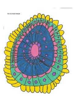Elementary Visual Art Project - Design - Sunflower Diamond