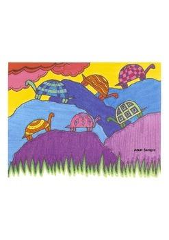Elementary Visual Art Project - Turtles on Rocks