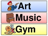 Elementary Visual Schedule