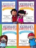 Elementary Vocabulary Survival Kit Grades 2-5: BUNDLE