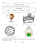Elementary Volleyball Assessment