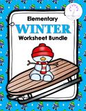 Elementary WINTER Worksheet Bundle