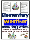 Elementary Weather Book Suggestions