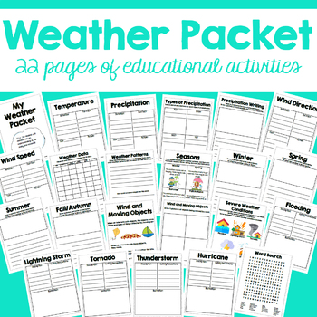 Elementary Weather Packet