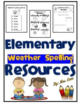 Elementary Weather Spelling Resources