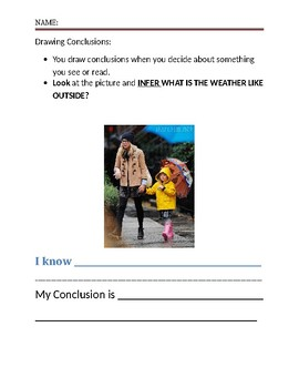 Elementary Weather Vocab + Infer with a Picture + Video Application