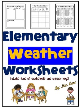 Elementary Weather Worksheets