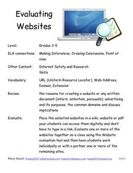 Elementary Website Evaluation