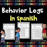 Elementary Weekly Behavior Logs in Spanish