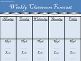 Elementary Weekly Forecast Sheet