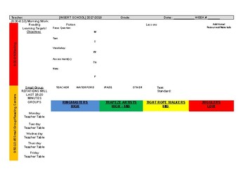 Elementary Weekly Lesson Plan Template [EDITABLE]