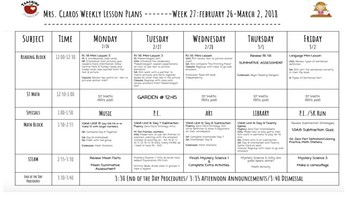 Elementary Weekly Lesson Plans using Google Docs