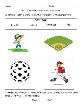 Elementary Wiffle ball, Kickball, or Baseball Assessment