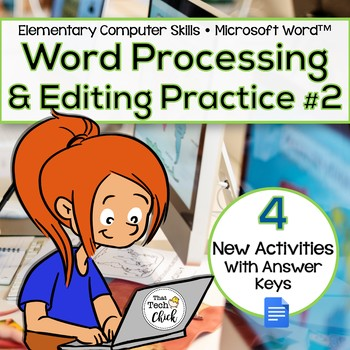 Elementary Word Processing & Editing Practice #2 for Google Docs™
