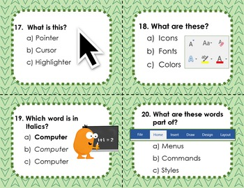Elementary Word Processing Scoot Game
