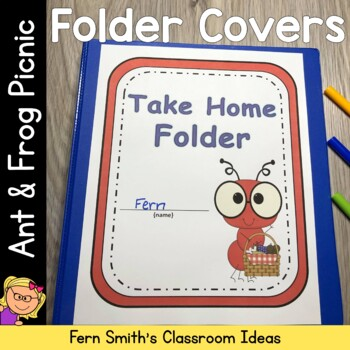 Student Binder Covers - Ant and Frog on a Picnic Student Work Folder Cover