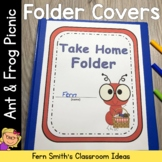 Student Binder Covers - Ant and Frog Picnic Themed Student