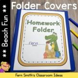 Student Binder Covers - Beach Gators Themed Student Work F