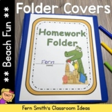 Student Binder Covers - Beach Gators Student Work Folder Cover