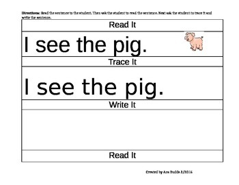 Elementary Writing Activities with the fairy tale The Three Little Pigs