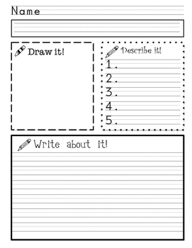 Elementary Writing Prompts and organizers