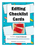 Elementary Writing Editing Checklist Cards