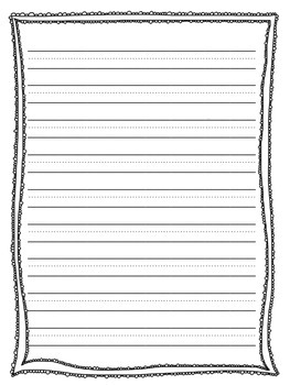 Elementary Writing Paper