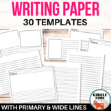 Elementary Writing Paper Primary Lined Paper w/ Picture Boxes Printable Booklets