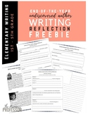 Writing Reflection Activity- End of the Year Writing FREEBIE
