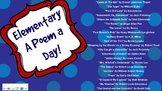 Elementary a Poem a Day
