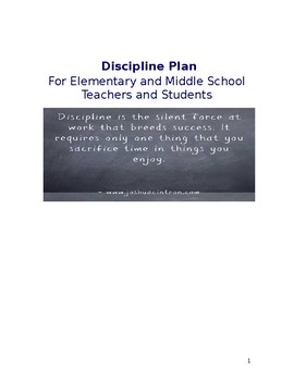 Elementary and Middle School Discipline Plan