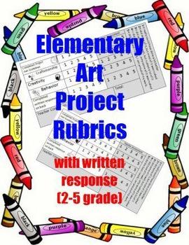 Elementary art project rubrics