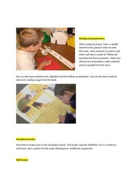 Elementary grades center ideas